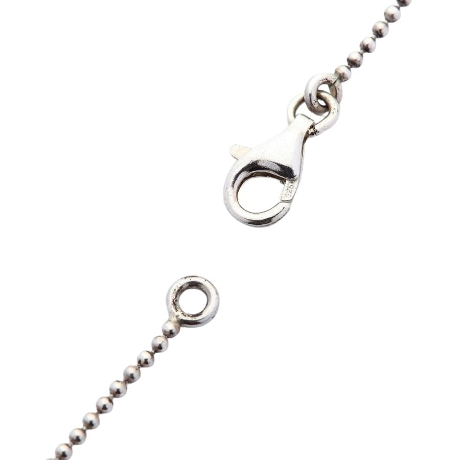 sterling silver 1mm tiny ball chain necklace