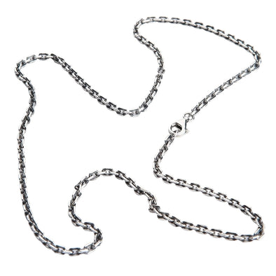 2mm chain sterling silver necklace