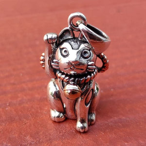 Good Luck Japanese Maneki-Neko Cat Pendant