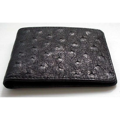 All Black Ostrich Wallet