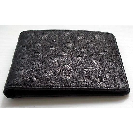genuine black ostrich skin wallet