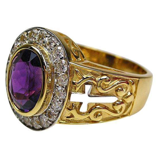 yellow gold bishop ring