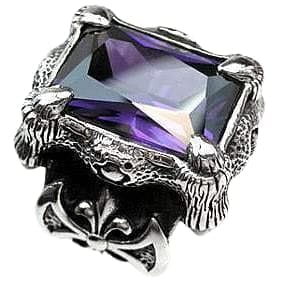 purple amethyst claw ring