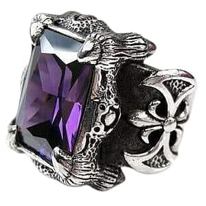 men's amethyst ring