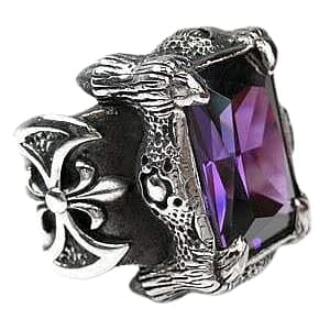 heavy claw biker ring