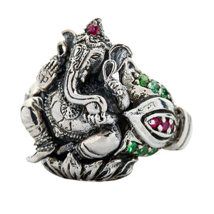 Amulette Hindu God Ganesha Ring