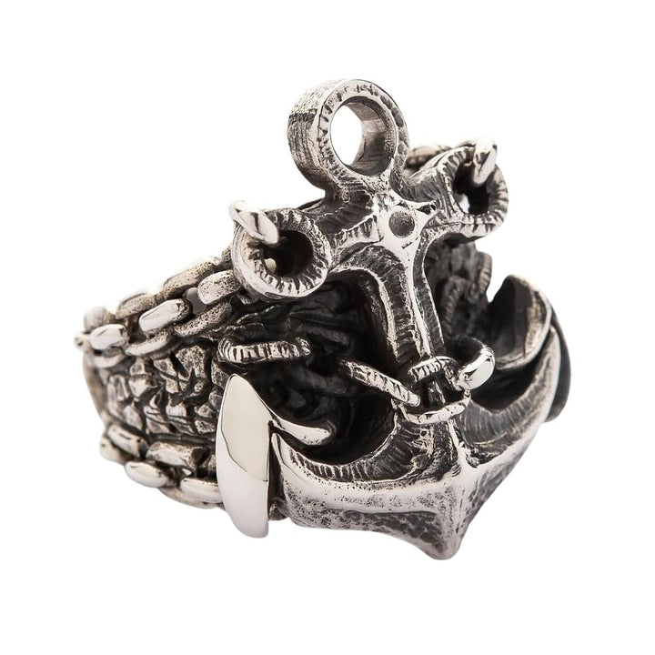 925 silver anchor ring