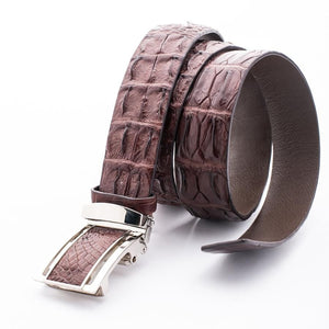 real croc alligator belt for men