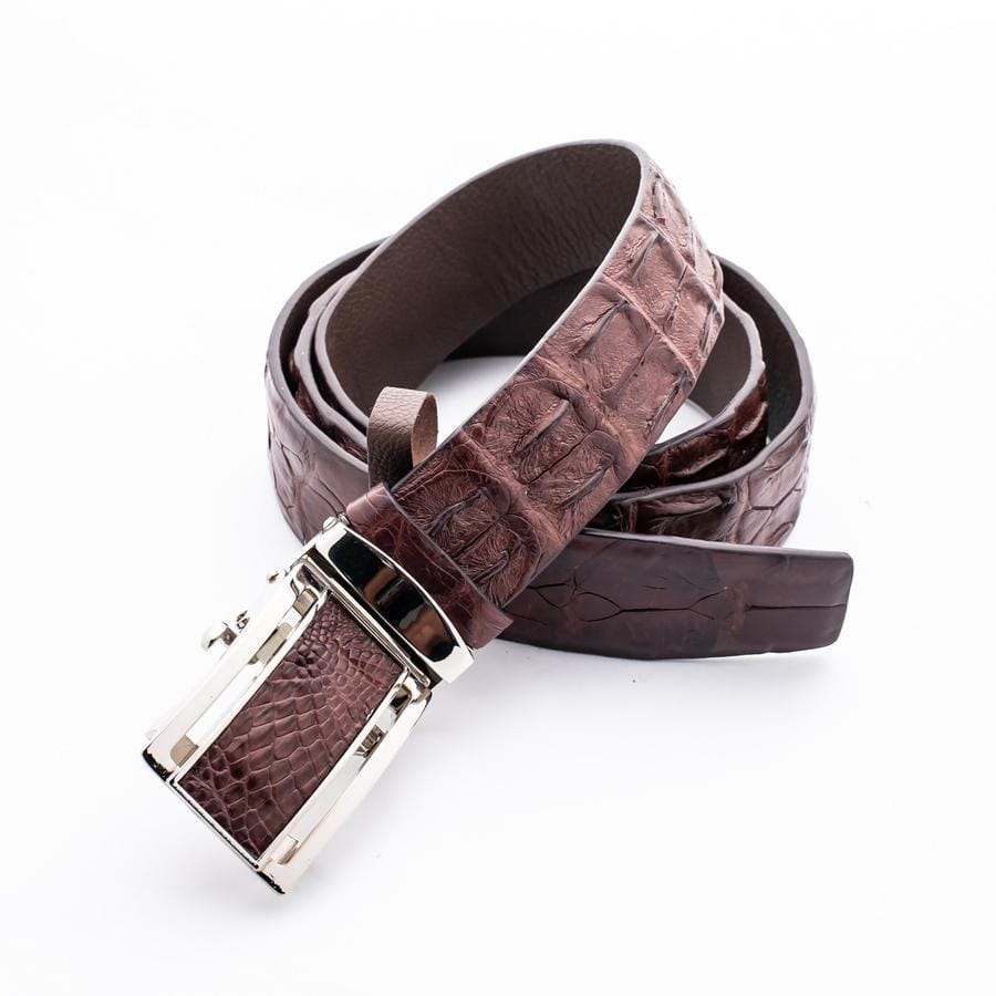 genuine alligator crocodile skin belt