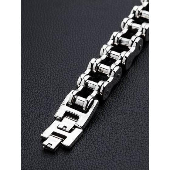 Sterling Silver Big Bike Chain Bracelet