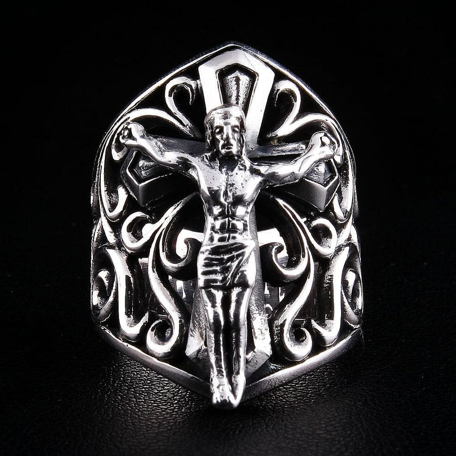 jesus sterling silver ring