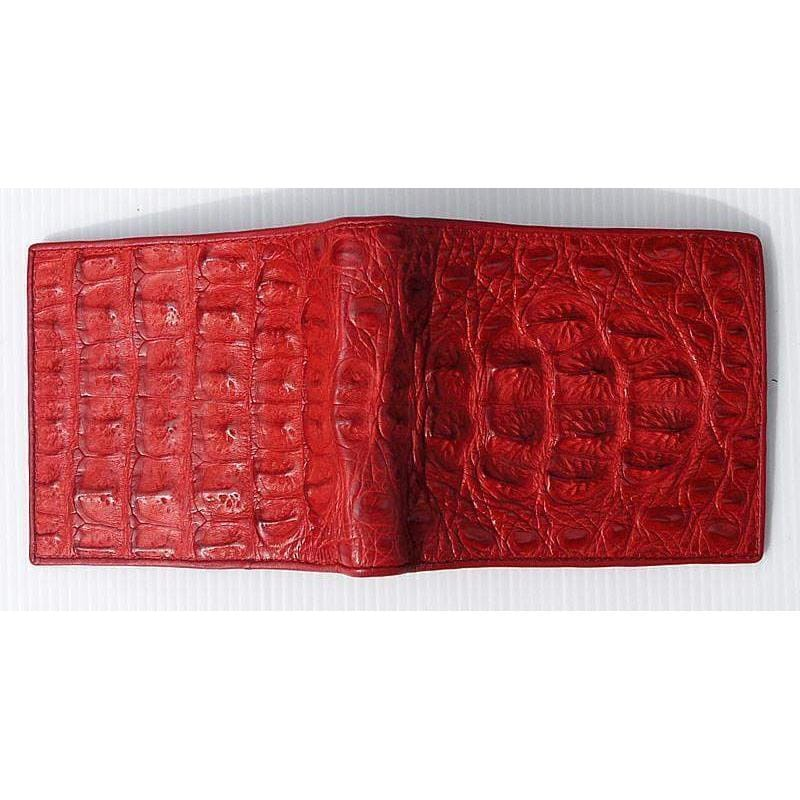 red men's leather wallet
