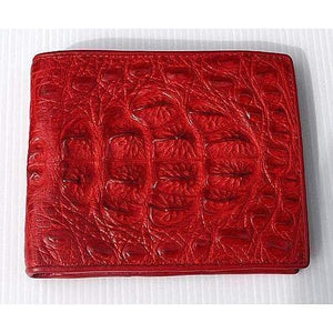 red real crocodile skin wallet