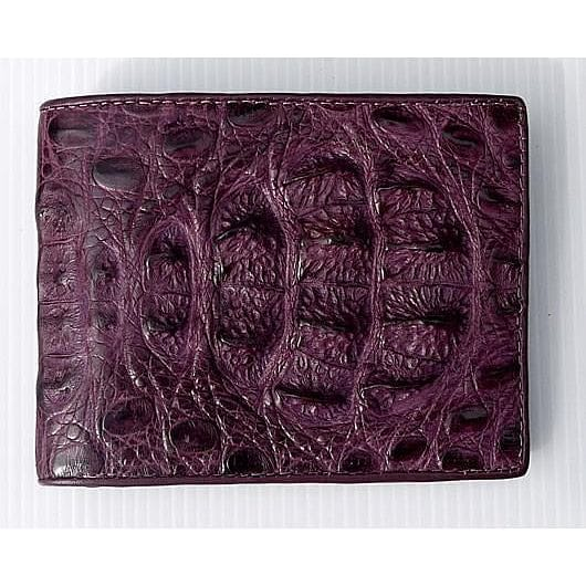 Big Violet Hornback Crocodile Mens Wallet