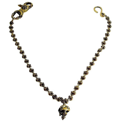 Biker Skull Brass Wallet Chain