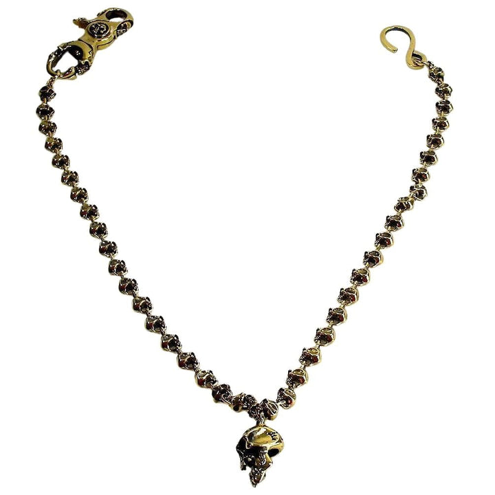 skull brass wallet chain