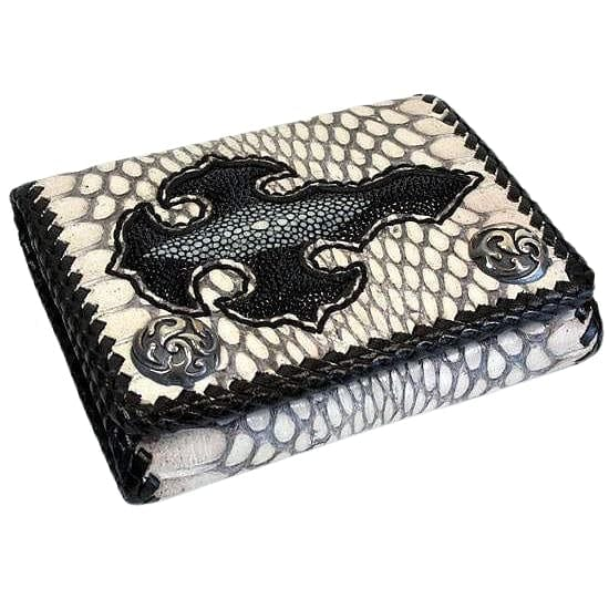 cobra skin leather men's wallet