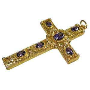 Gold Bishop Cross Pendant