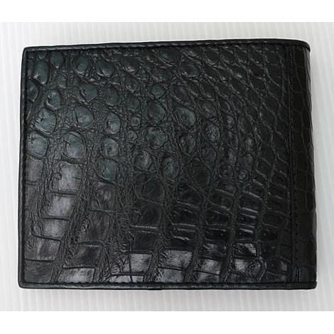 Black Belly Crocodile Skin Wallet