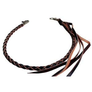 Black Brown Leather Wallet Chain