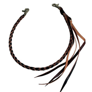braided leather chain