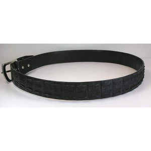 Black Crocodile Backbone Belts