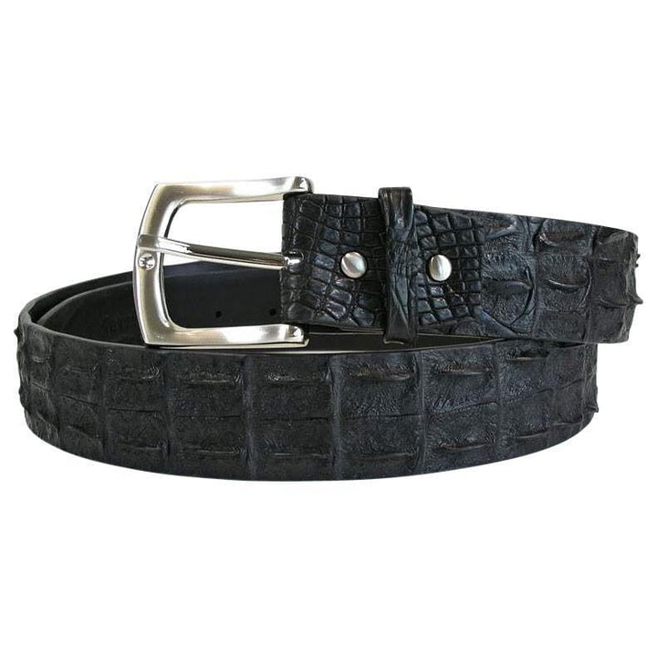 black backbone crocodile belt