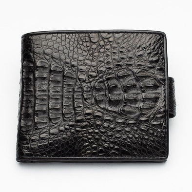 Black Crocodile Hornback Skin Wallets