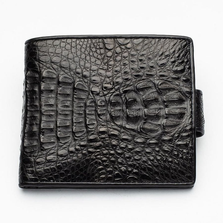 black crocodile hornback wallet