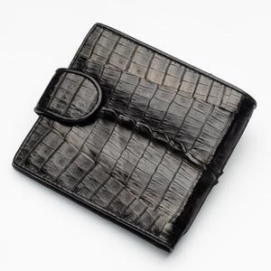 Black Crocodile Tail Skin Wallets