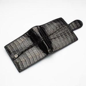 crocodile leather women's wallet