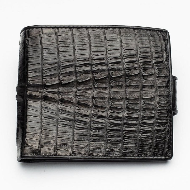 black crocodile tail wallet