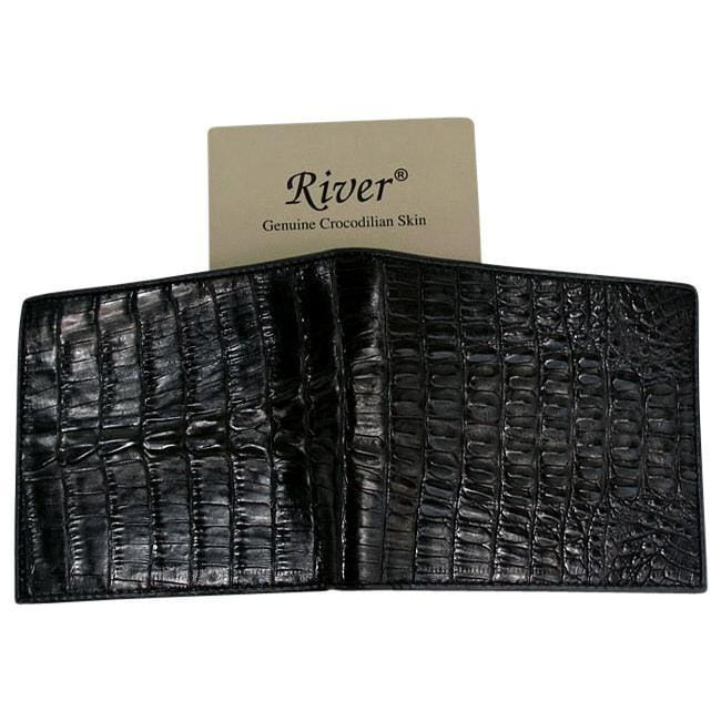 real black crocodile leather wallet