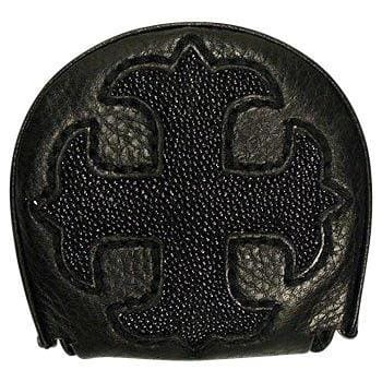 Black Cross Coin Wallet