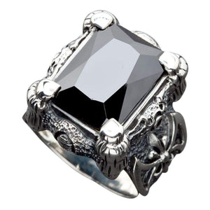 Zwarte Dragon Claw Biker Ring