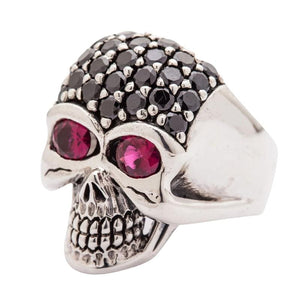 men's black blink skull ring
