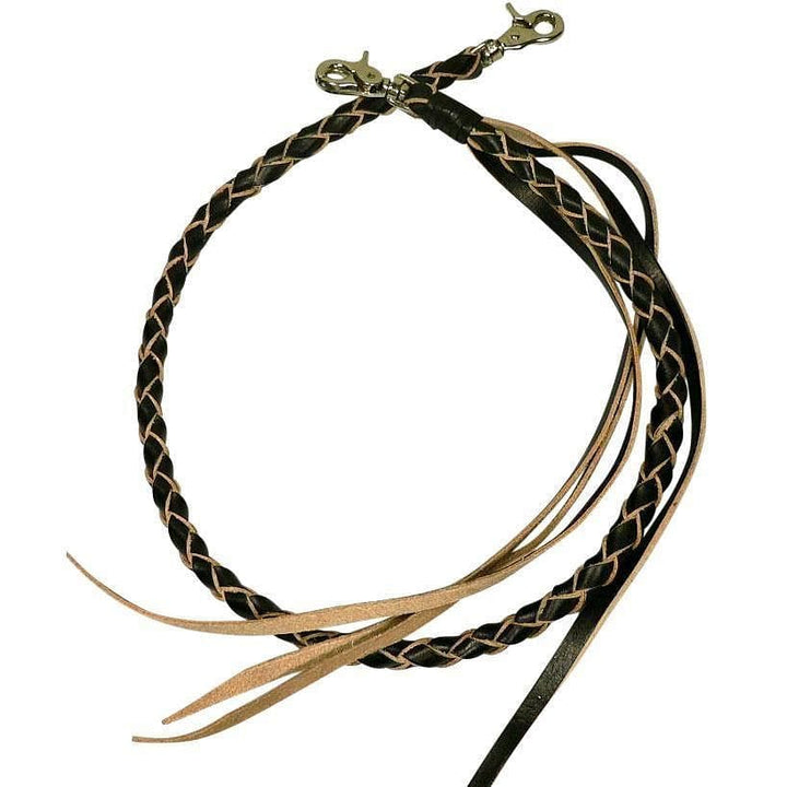 genuine cowhide leather braided chain