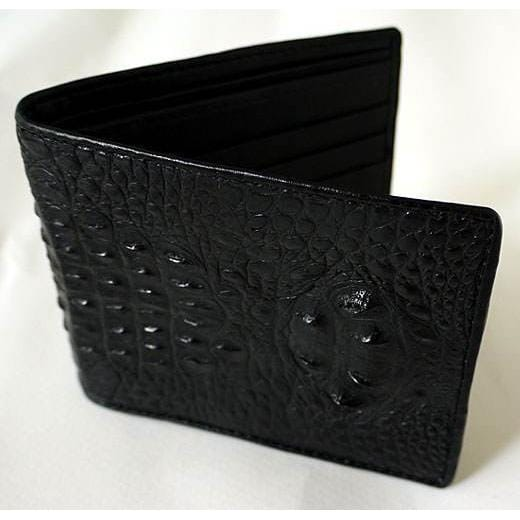 hornback crocodile leather wallet for men