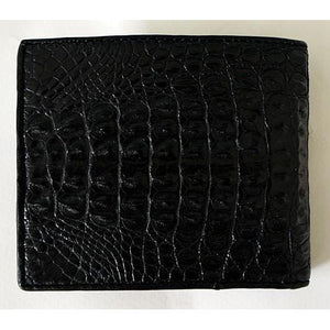 Black Hornback Crocodile Wallet