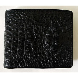 real black crocodile skin wallet