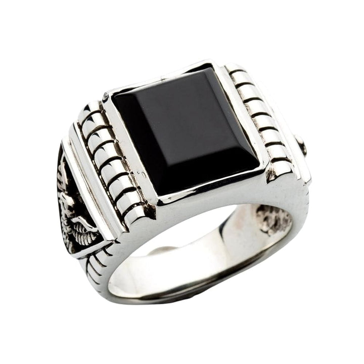 zwarte onyx heren ring
