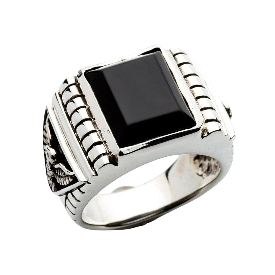 black onyx men ring