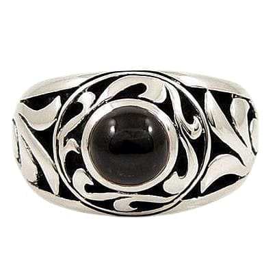 tribal tattoo black onyx ring