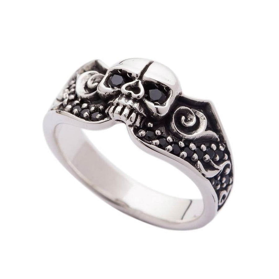 925 sterling silver tribal gothic ring