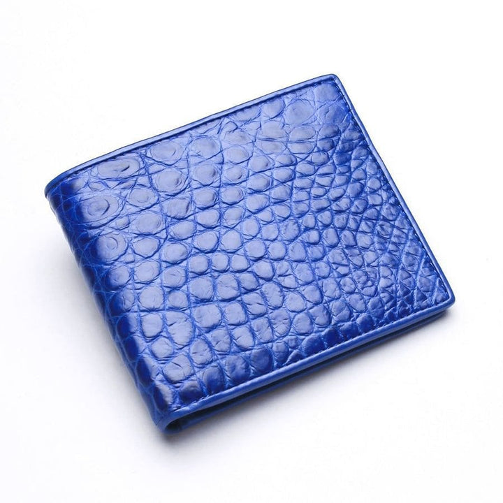 blue stomach crocodile wallet