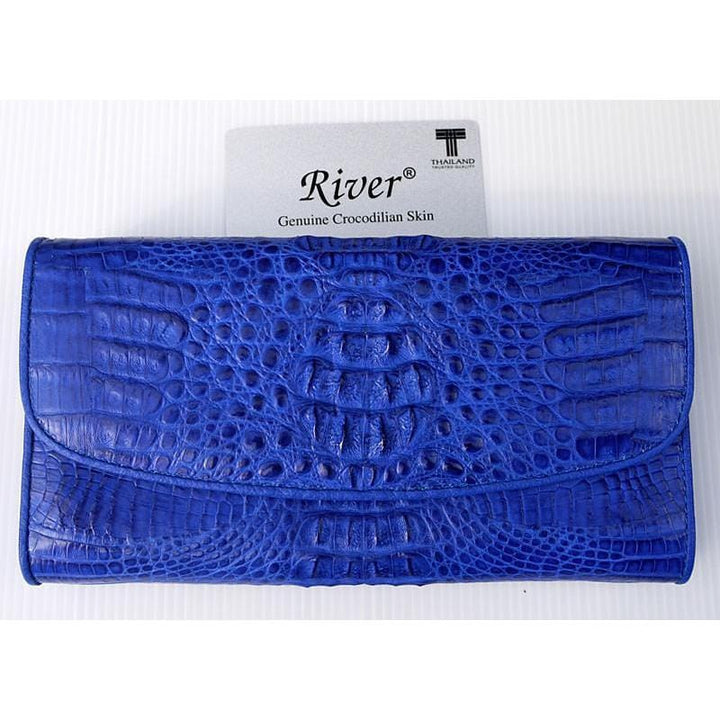 Genuine Real Crocodile Alligator Tail Skin Leather Man Bifold Grey Wallet River