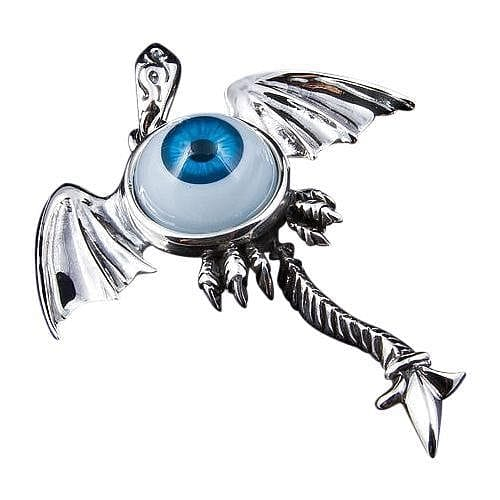eyeball gothic wings pendant