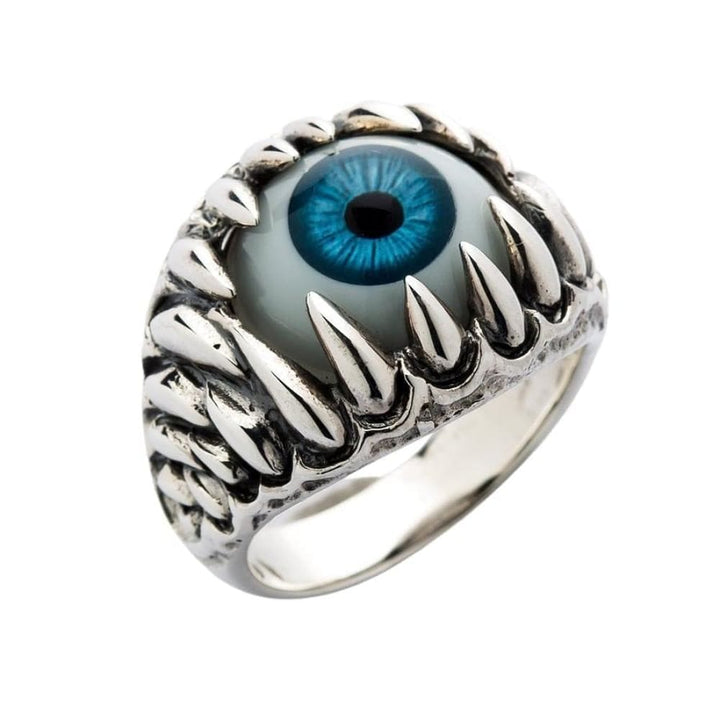 blå eyeball gotisk ring