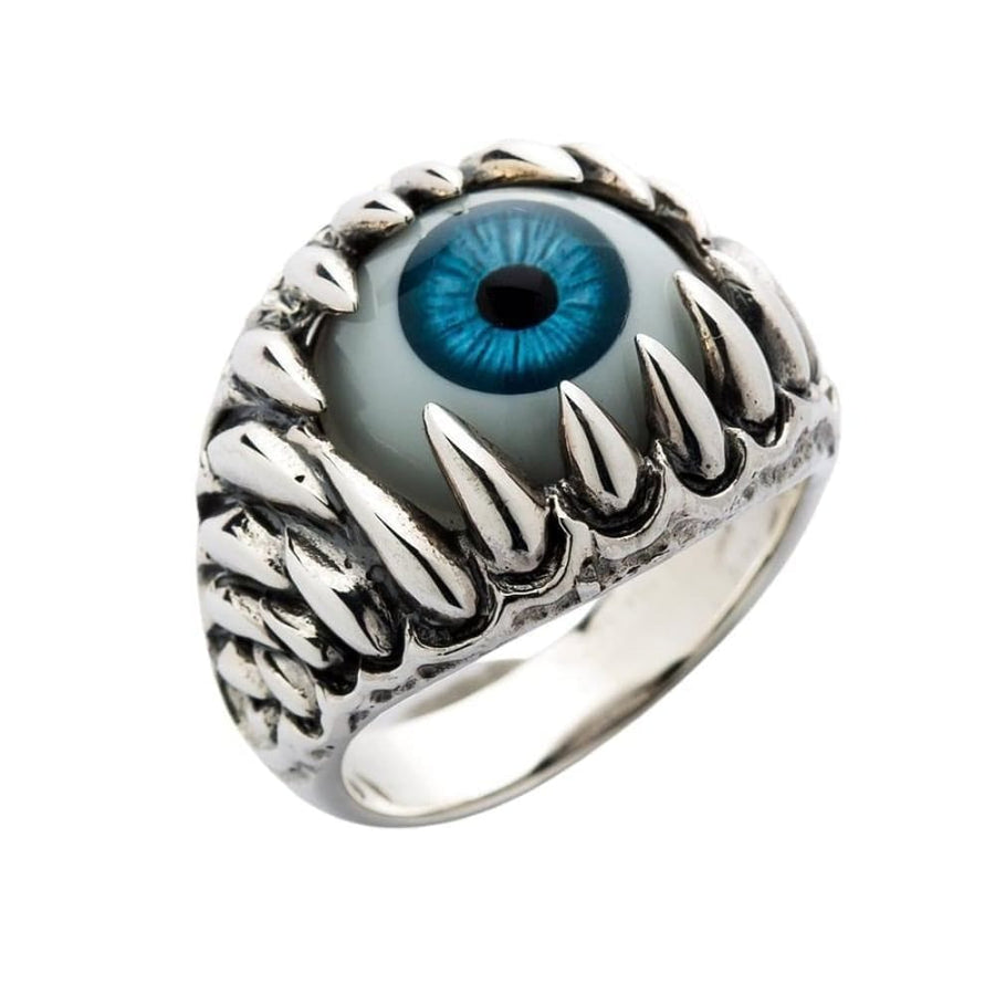 blue eyeball gothic ring