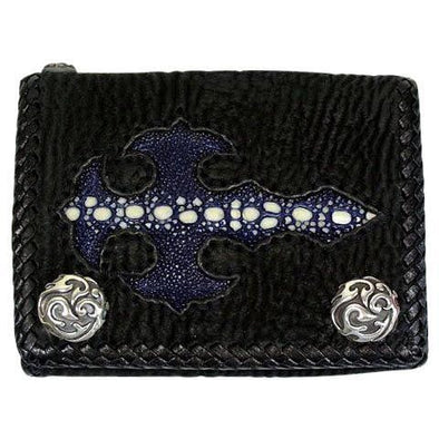 Blue gothic cross wallet
